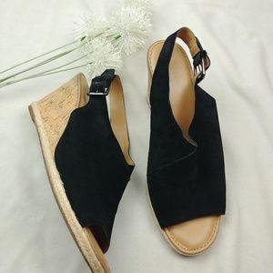 Franco Sarto Women's Julien Wedge Sandals, Black S